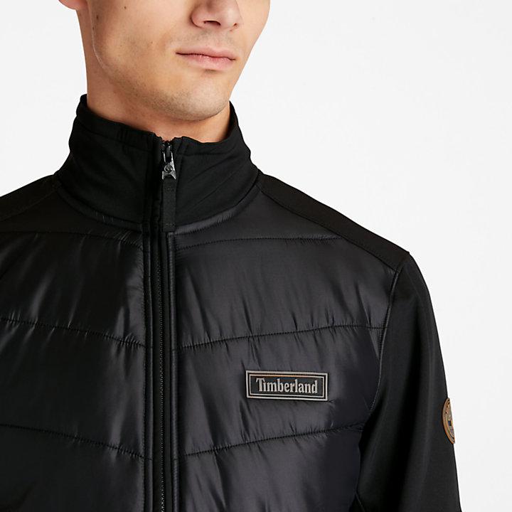 Veste hybride softshell pour homme en noir-