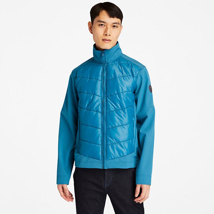 Chaqueta Híbrida Ligera para Hombre en azul verdoso-