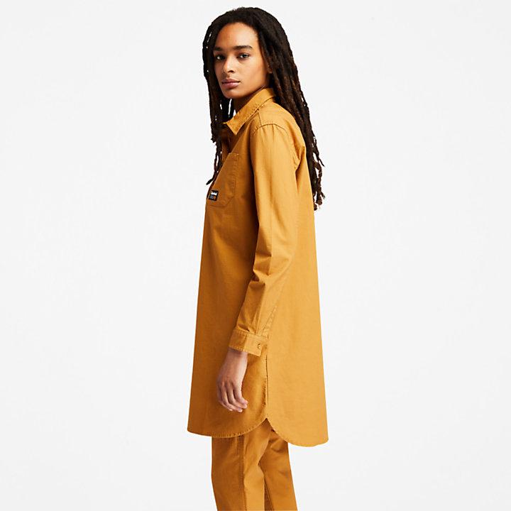 Robe utilitaire pour femme en jaune foncé-