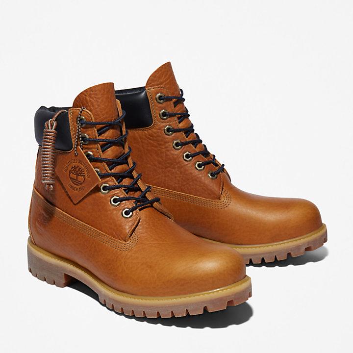 6-inch Boot extra-chaude Timberland® Premium pour homme en cuir pleine fleur jaune-