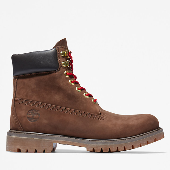 Timberland® Premium 6 Inch Luxe Leather Boot for Men in Brown-