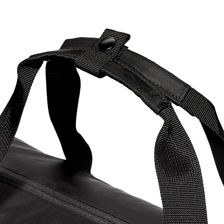 Sport Inspired Duffel Bag in Black-