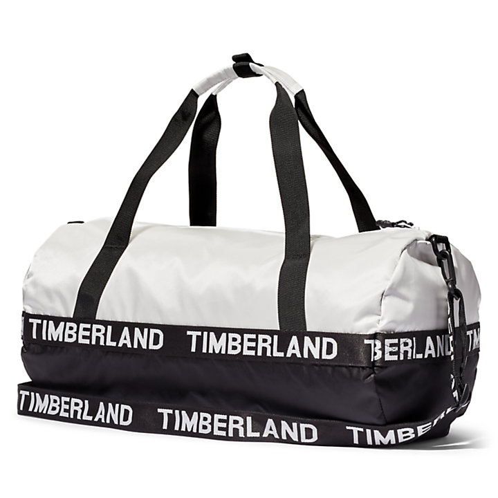 Sport Inspired Duffel Bag in White-