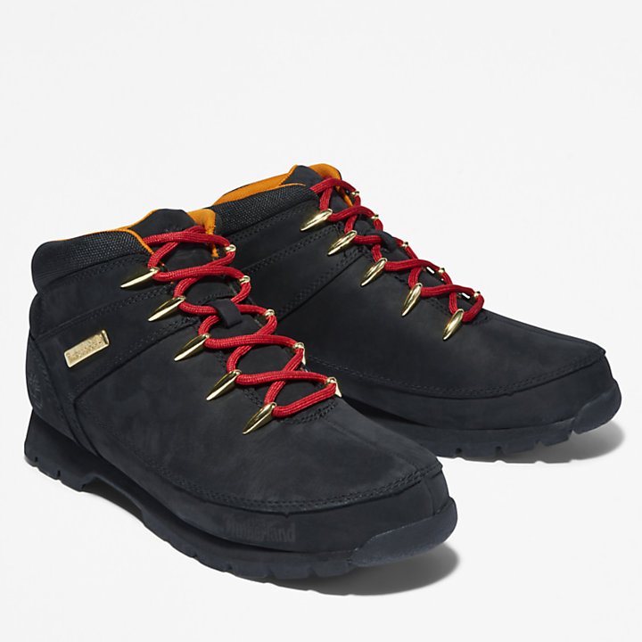 Euro Sprint Red-laced Hiker for Men in Black-