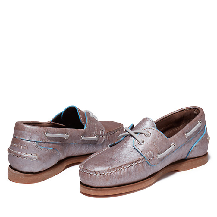 EK+ Classic Boat Shoe for Women in Silver-
