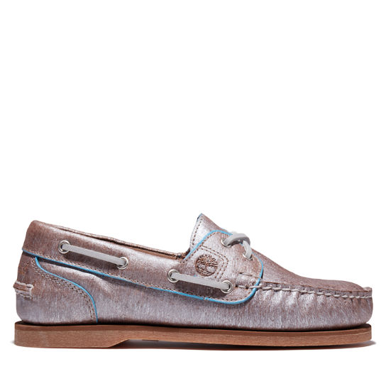 EK+ Classic Boat Shoe for Women in Silver | Timberland