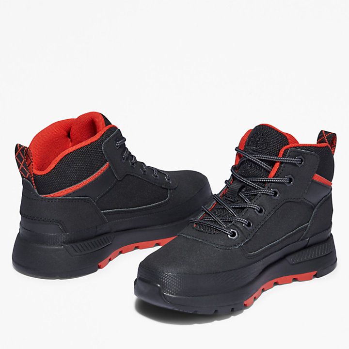 Botas de Montaña Field Trekker para Niño (de 35,5 a 40) en color negro/rojo-