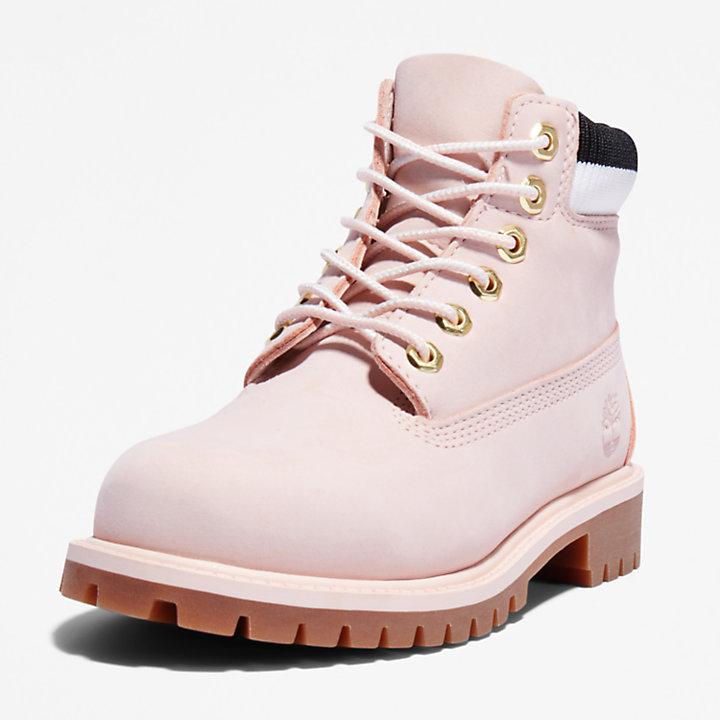 Scarponcino da Bambino (dal 30,5 al 35) Timberland® Premium 6 Inch in rosa chiaro-