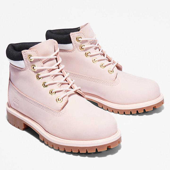Scarponcino Impermeabile da Bambino (dal 35,5 al 40) Timberland® Premium 6-Inch in rosa chiaro-