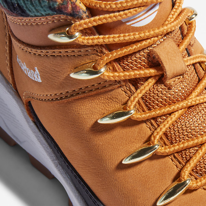 Brooklyn High Top Trainer for Youth in Yellow/Camo-