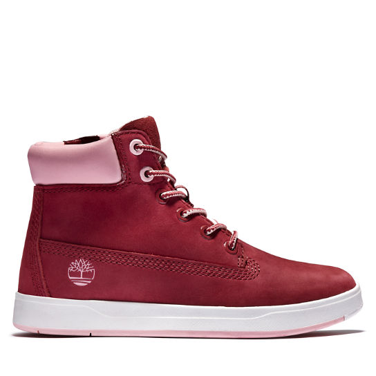 Davis Square 6 Inch Side-zip Boot for Men in Red | Timberland