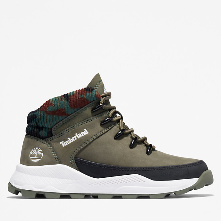 Brooklyn High Top Trainer for Youth in Dark Green-