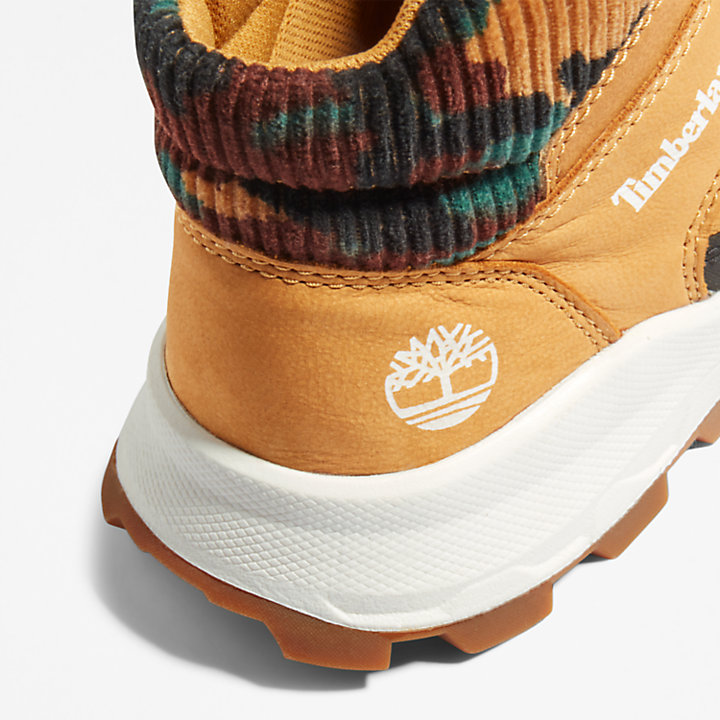 Brooklyn High Top Trainer for Junior in Yellow/Camo-
