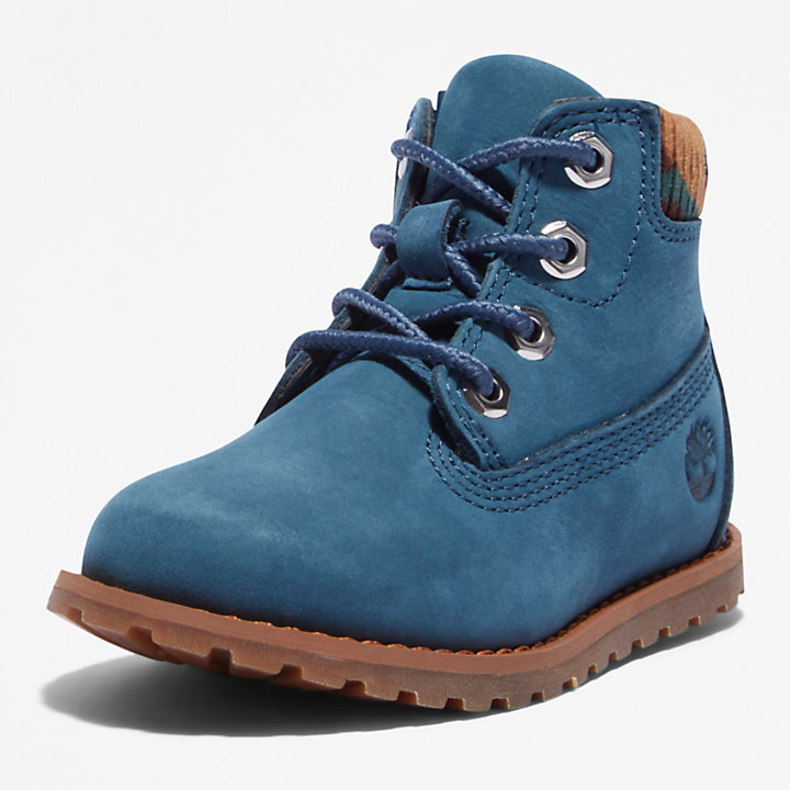 Pokey Pine 6 Inch Boot for Toddler in Blue-