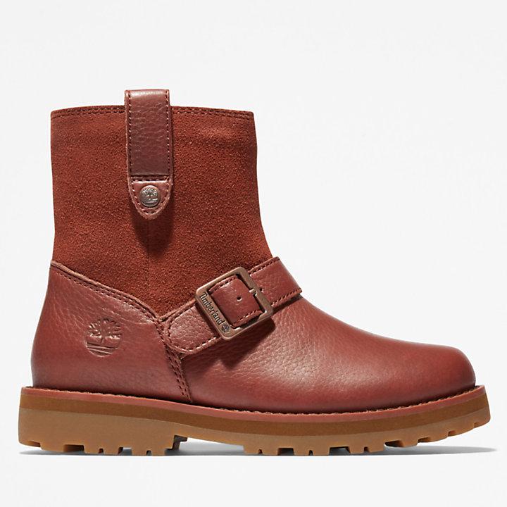 Courma Kid Side-zip Winter Boot voor kids in bruin-
