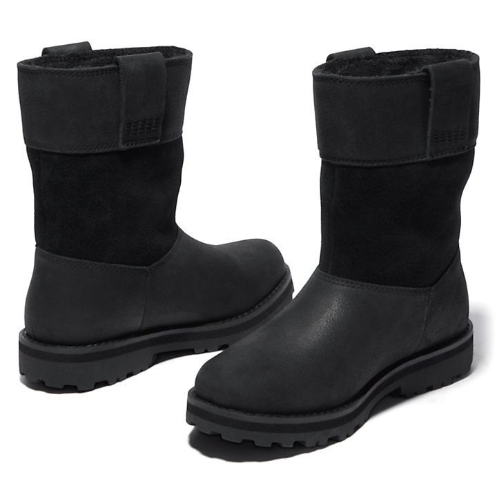 Courma Kid Pull-on boot for kids in zwart-