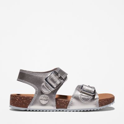 Castle+Island+Backstrap+Sandal+for+Youth+in+Silver