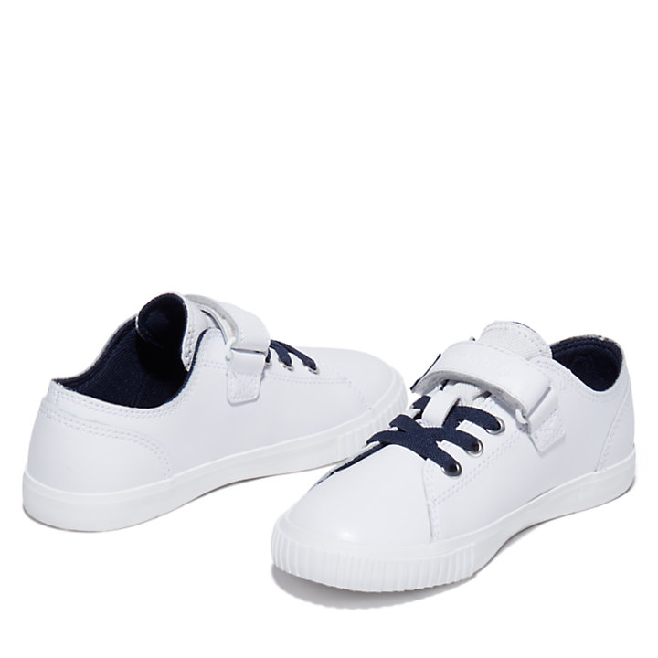 Newport Bay Sneaker for Youth in White/Navy-