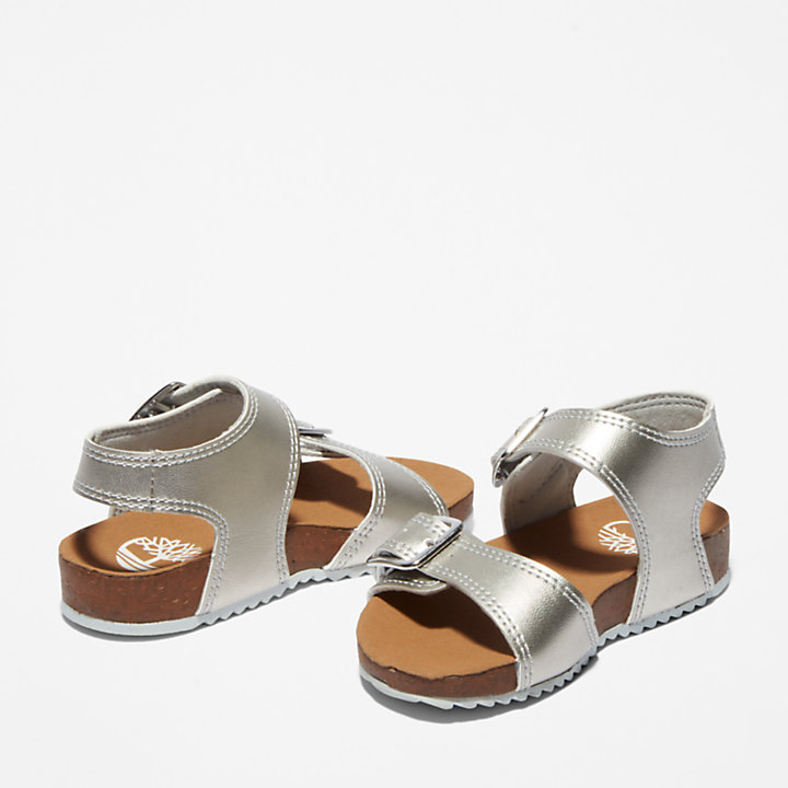 Castle Island Sandal for Toddler in Silver-