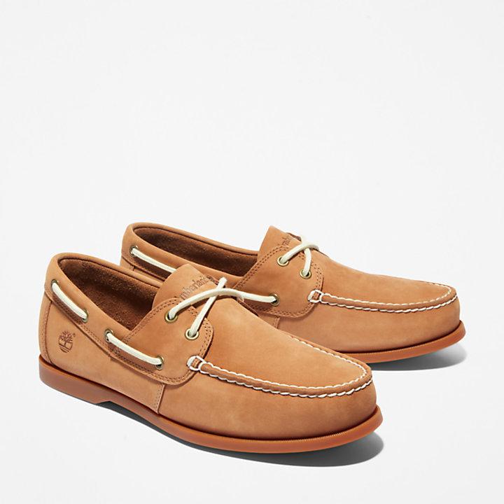 Cedar Bay Boat Shoe for Men in Light Brown-
