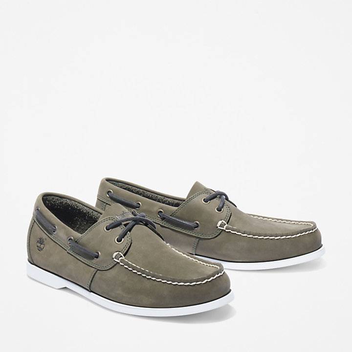 Cedar Bay Boat Shoe for Men in Dark Green-