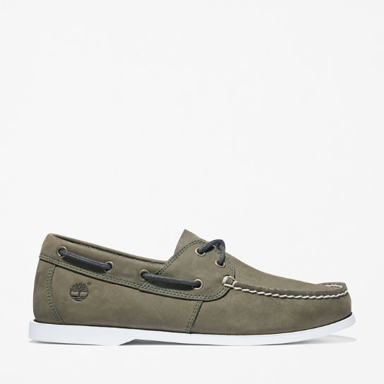 Cedar Bay Boat Shoe for Men in Dark Green | Timberland