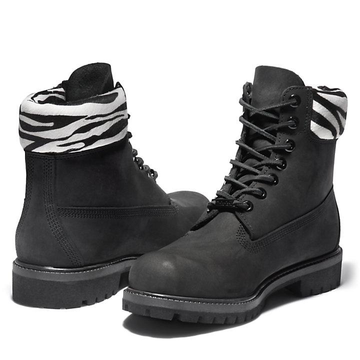 Premium Animalier 6 Inch Boot for Men in Black-