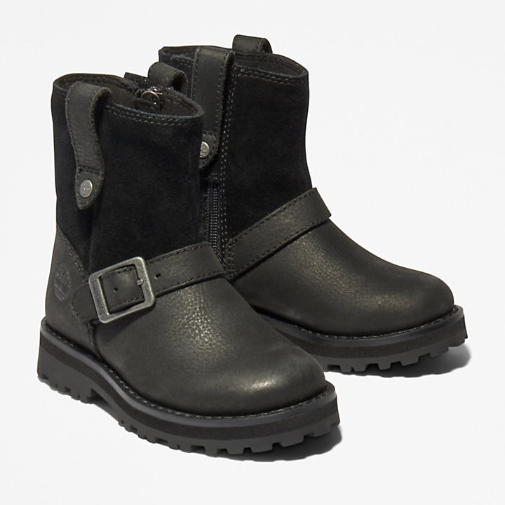 Courma Kid Side-zip Winter Boot for Toddler in Black-