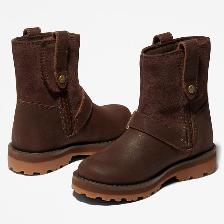 Courma Kid Side-zip Winter Boot voor peuters in donkerbruin-