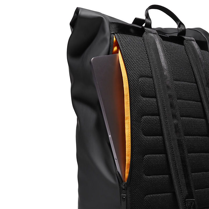 Canfield Roll-top Backpack in Black-