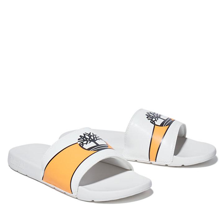 Playa Sands Slide Sandaal voor heren in wit/oranje-