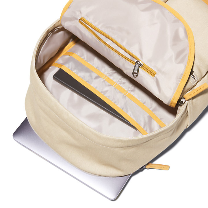 Zaino con Apertura Superiore a Zip Needham in beige-