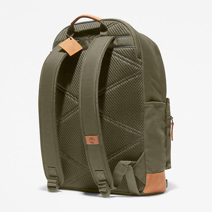Needham Zip-Top Backpack in Dark Green-