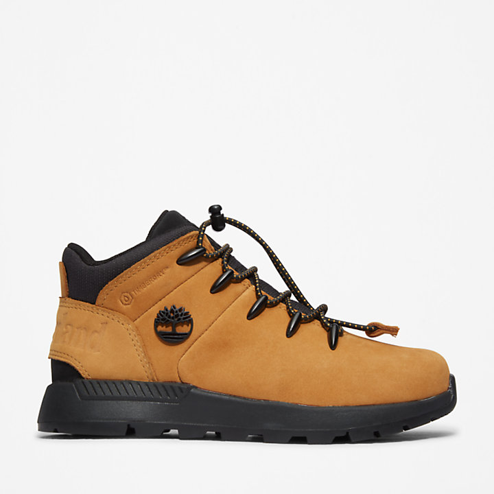 Sprint Trekker Mid Hiking Boot for Youth in Yellow-