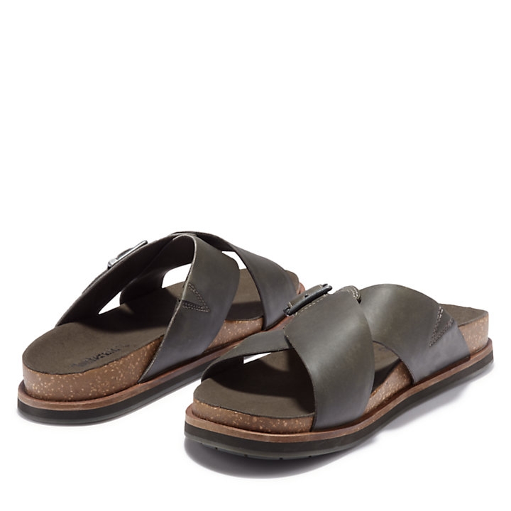 Sandalia de Tiras Cruzadas Amalfi Vibes para Hombre en gris-