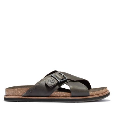 Amalfi+Vibes+Cross+Slide+Sandal+for+Men+in+Green+or+Greige+or+Brown+or+Grey