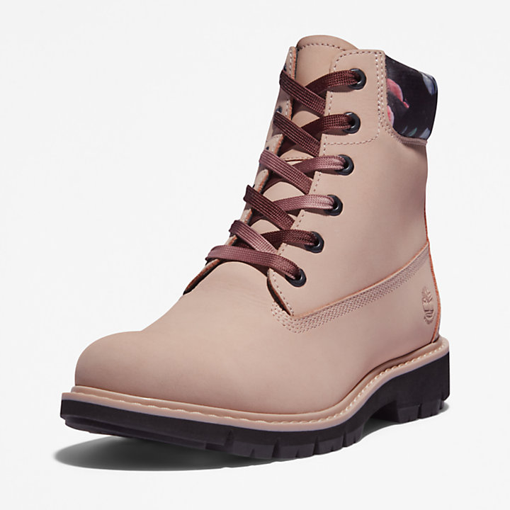 Lucia Way 6 Inch Boot for Women in Light Pink/Floral-
