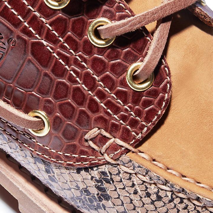 Authentic 3-Eye Classic Lug Bootschoen voor heren in dierenprint-