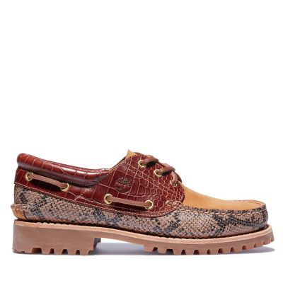Authentic+3-Eye+Classic+Lug+Boat+Shoe+for+Men+in+Animalier+Print