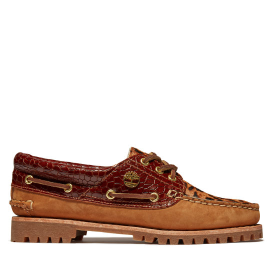 Noreen 3-Eye Boat Shoe for Women with Animalier Print | Timberland