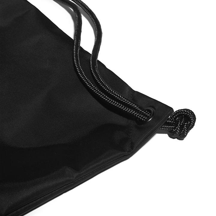 Sac à cordon de serrage avec écusson à logo en noir-
