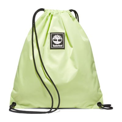Logo+Patch+Drawstring+Bag+in+Light+Green
