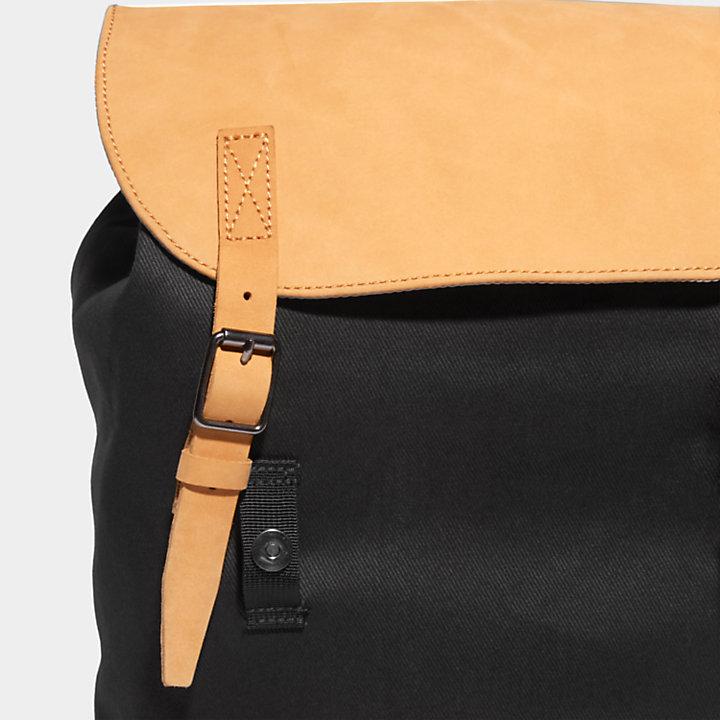 Needham Flap-top Backpack in Black-