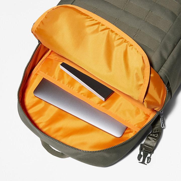 Dardin Zip-top Backpack in Dark Green-