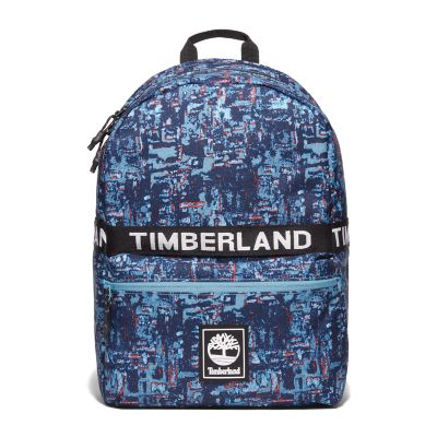 Sport+Leisure+Printed+Backpack+in+Blue