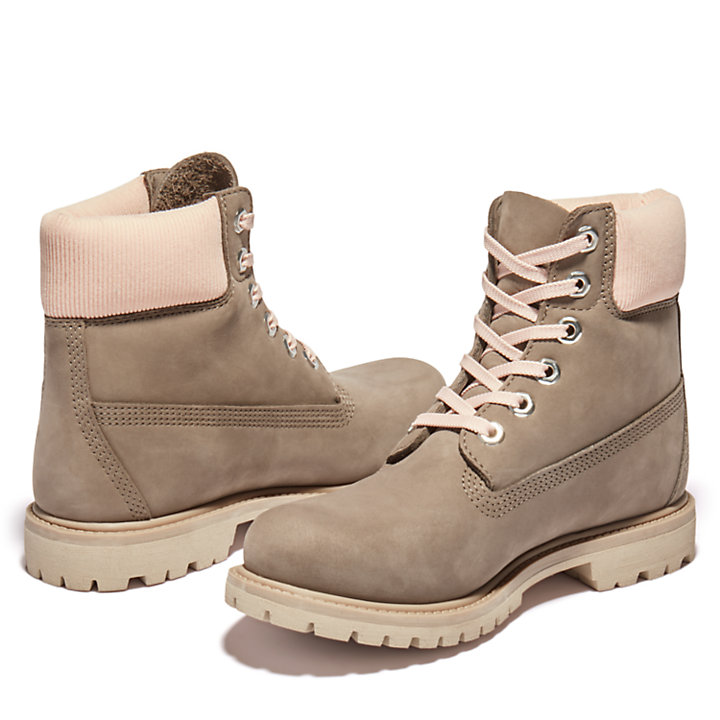 Premium 6 Inch Boot for Women in Grey-