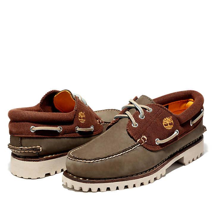 Authentics Boat Shoe for Men in Greige-