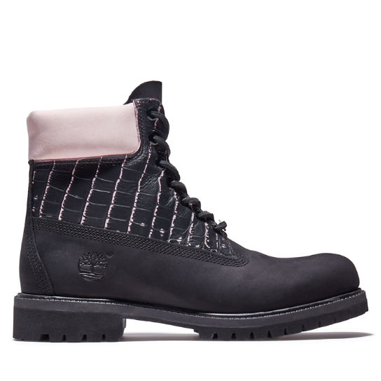 Premium Animalier 6 Inch Boot for Men in Black/Pink | Timberland