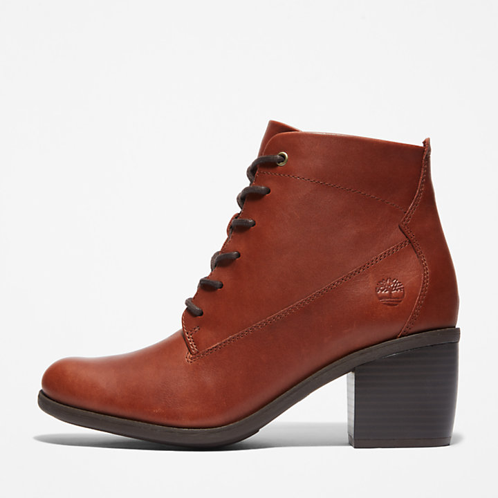 Brynlee Park Lace-Up Boot for Women in Brown-