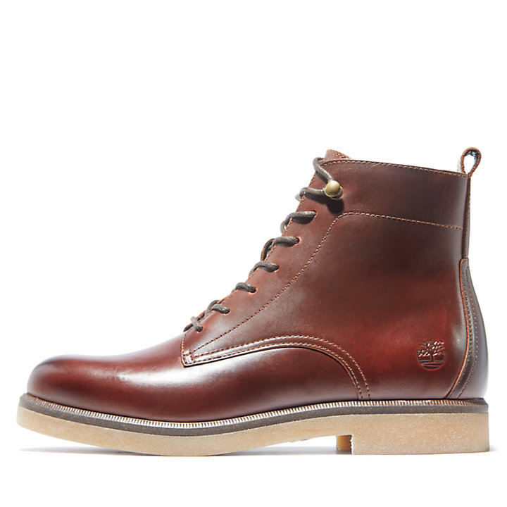 Cambridge Square Lace-up Boot for Women in Brown-